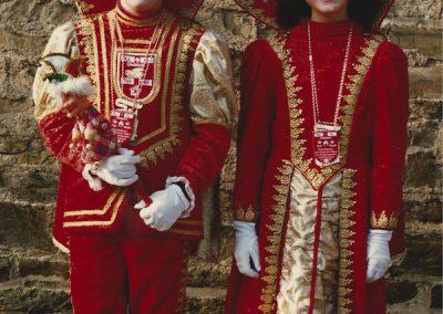Kinderprinzenpaar 1989 Prinz Andy I. und Prinzessin Katja I.