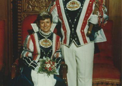 Prinz Werner I. und Prinzessin Hiltrud I. Pistono 1987